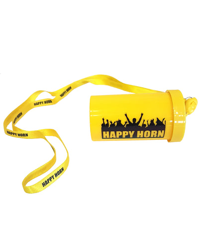 Yellow Happy horn with string