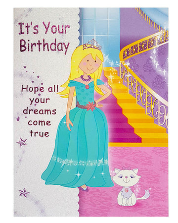 Wishing Card for Birthday Princess with envelope