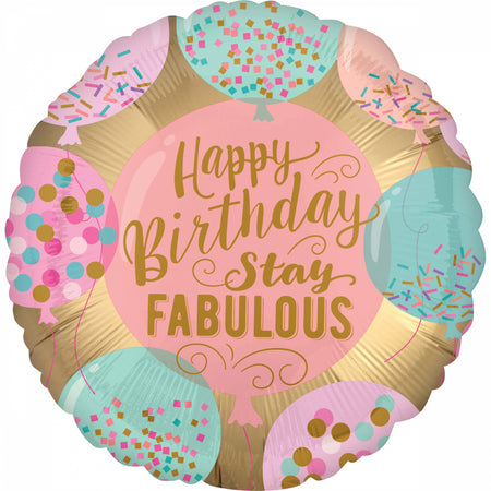 18'' Happy Birthday Stay Fabulous Foil μπαλόνι