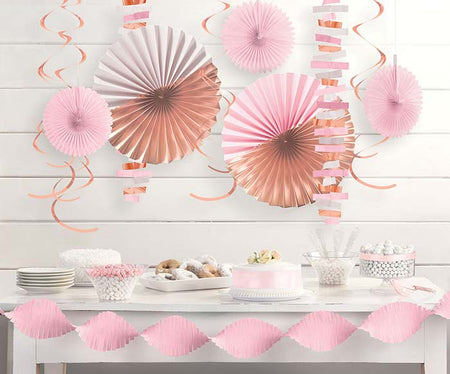 Decoration kit Rosegold (14 pcs)