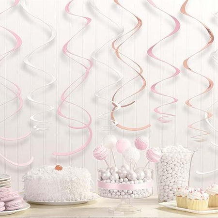 Swirl Decorations Rosegold (12 pcs)