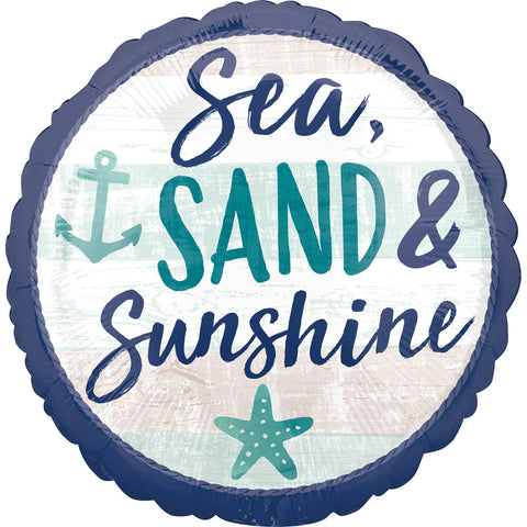 17'' Sea Sand & Sunshine Foil Balloon