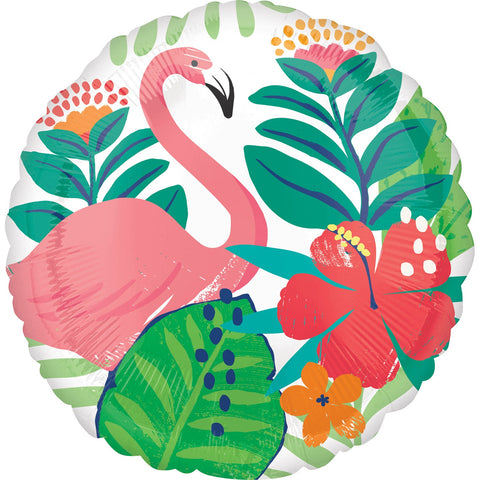17'' Tropical Flamingo Foil Balloon