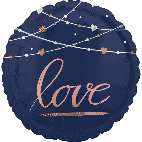 17'' Navy Love Foil Balloon
