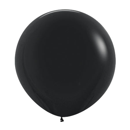 24'' Black Latex Balloon (10 pcs)