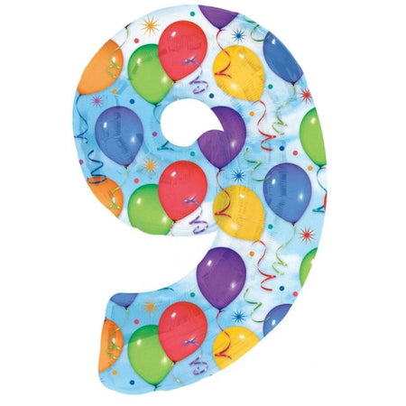 34'' Number '9' Balloons & Streamers Foil Balloon