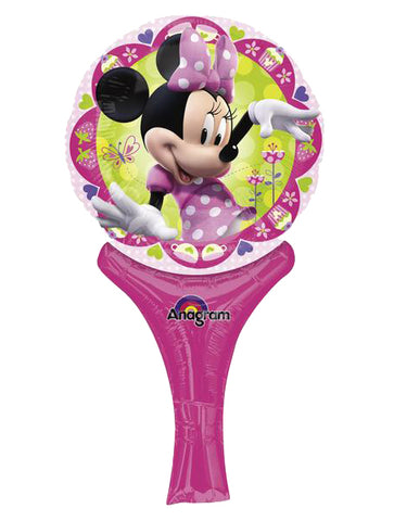 12'' Mini Shape Minnie Mouse Inflate-a-fun Foil Balloon