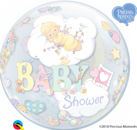 "22"" Baby shower single Bubble balloon"