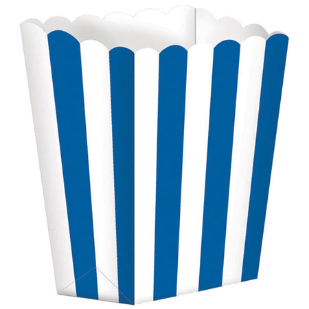 Blue Treat Boxes Stripes for gifts (5 pcs)