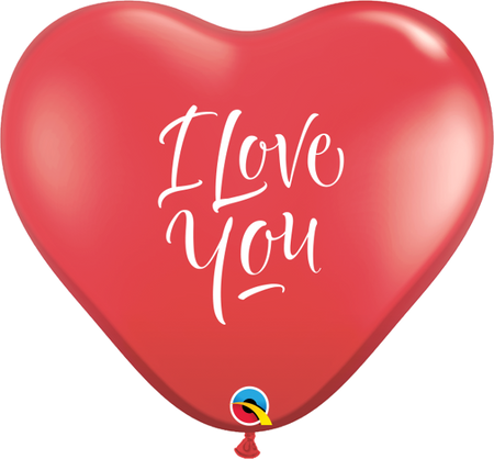 "3 feet Printed Red Heart "" I Love you"" latex balloon (1 pc)"