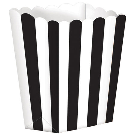Black Treat Boxes Stripes for gifts (5 pcs)