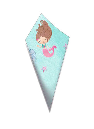 Paper Cone for sweets happy Mermaid