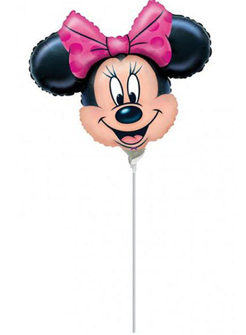 "14"" Mini Shape Minnie Mouse face Foil Balloon"