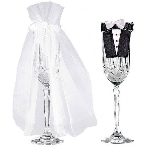 Bride and Groom Champagne Glass Wear