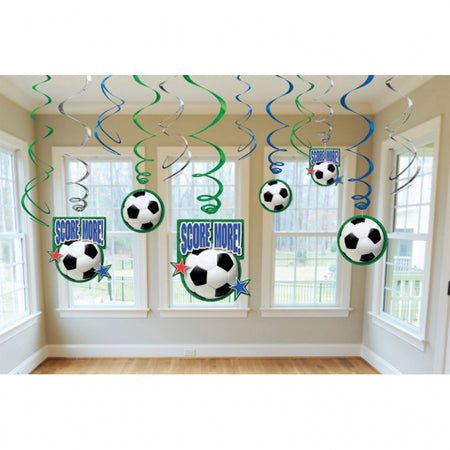 Decorating Swirls Championship Soccer Score More (12 pcs)