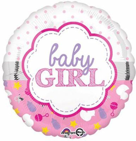 18'' Baby Girl Hot Pink Foil Balloon