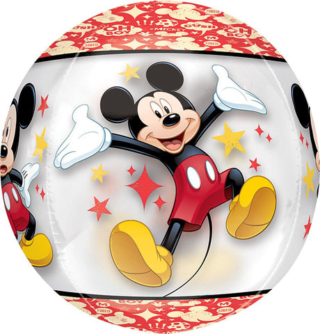 18'' Mickey Mouse See Thru ORBZ Foil Balloon