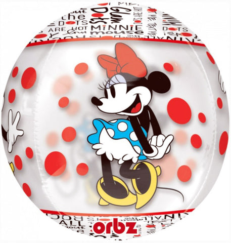 18'' Minnie Mouse See Thru ORBZ Foil Balloon
