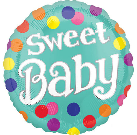 18'' Sweet Baby Dots Foil Balloon