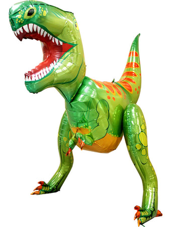 Green Dinosaur Airwalker Foil Balloon