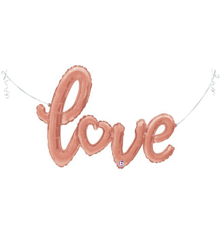 "47"" Love Rosegold Connected Phrase Foil Balloon"