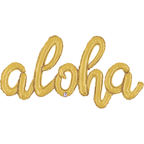 "40"" Aloha gold connected phrase Foil Balloon"