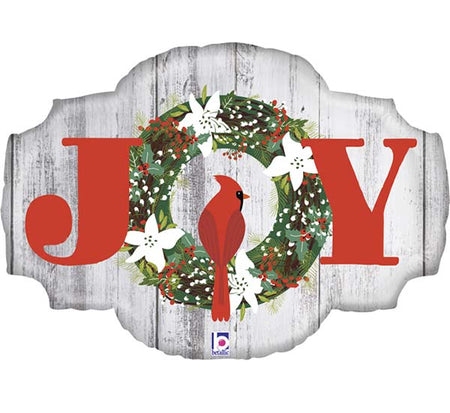 "32'' Rustic ""Joy"" sign Foil Balloon"
