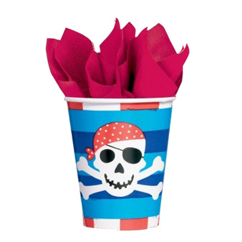 Cups with Pirates  (8 pcs)