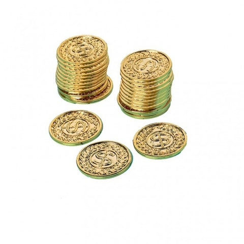 Gold Pirate Coins (6 pcs)