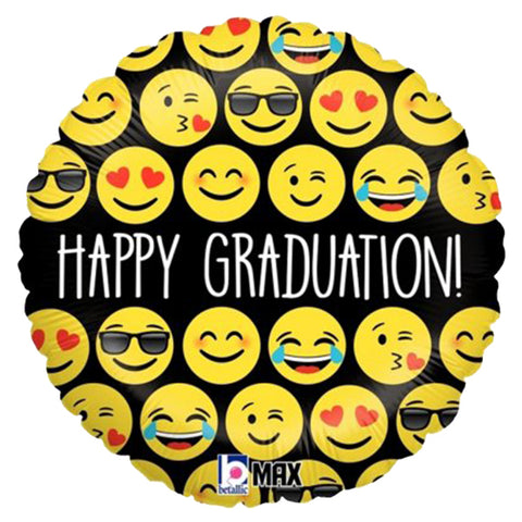 "18"" Happy Graduation emoji Foil Balloon"