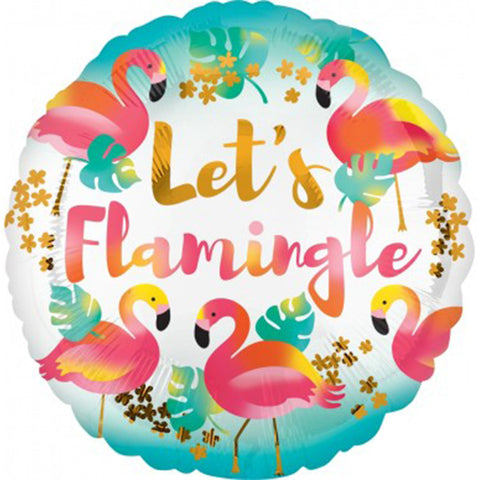 18'' Let's Flamingle Foil Balloon