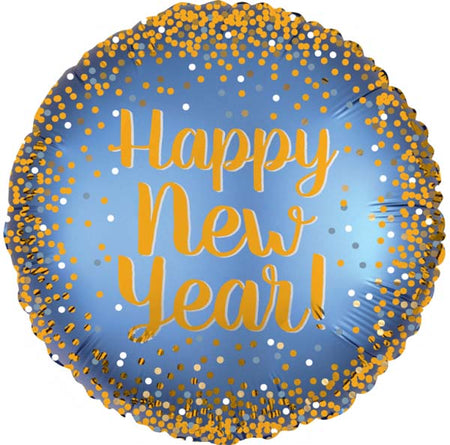 "18'' Gold & Satin ""Happy New year"" foil balloon"