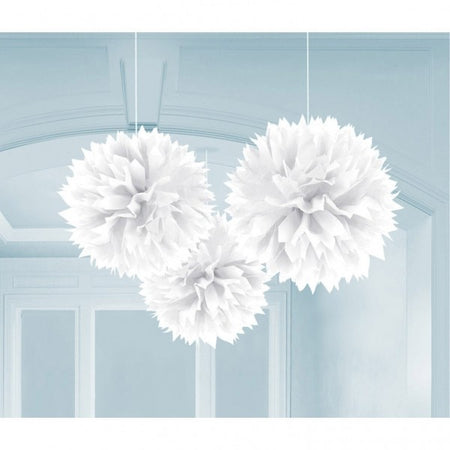 Decorating Pom - Pom in white (3 pcs)