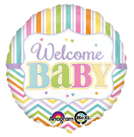 18'' Welcome Baby Brights Foil Balloon