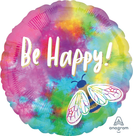 18'' Be Happy Watercolor Foil Μπαλόνι