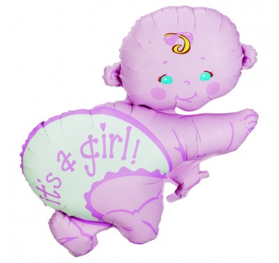 Super Shape crawling Baby Girl Foil Balloon