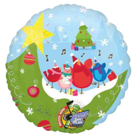 32'' Winter Scene Sing-A-Tune Christmas Foil Balloon