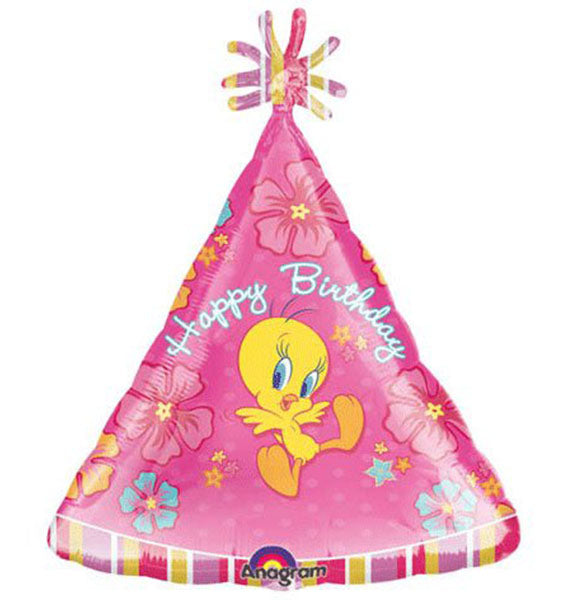 18'' Tweety Happy bday Foil Balloon
