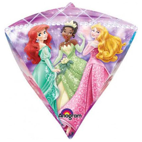 15'' Diamondz Disney Princesses Foil Balloon