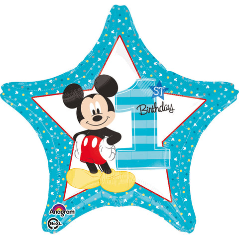 18'' Star Mickey Mouse '1st Bday' Foil Balloon