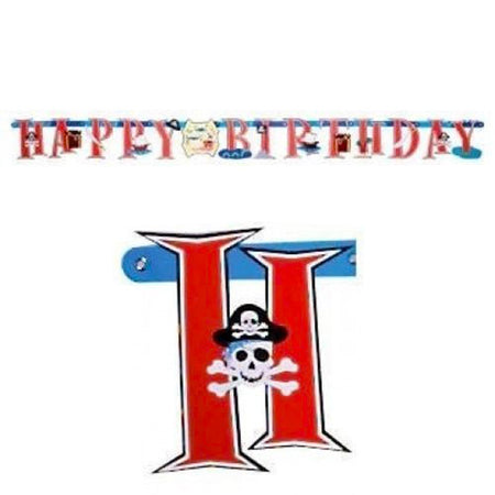 Pirate letter Banner 'Happy Birthday'