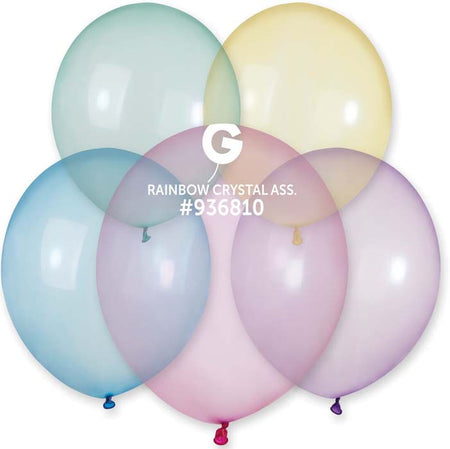 19'' Crystal Rainbow Assorted Latex Balloon (25 pieces)
