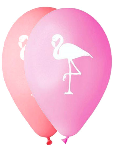 12'' Printed Flamingo pink - rose latex balloon (25 pcs)