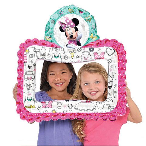 "27"" Selfie Frame Minnie Mouse Foil Balloon"