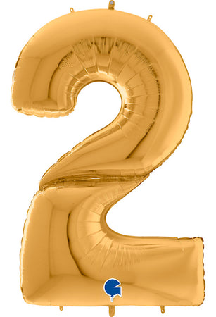 64'' Gold Number '2' Foil Balloon