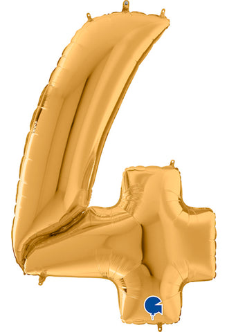 64'' Gold Number '4' Foil Balloon