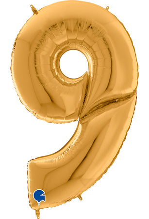 64'' Gold Number '9' Foil Balloon