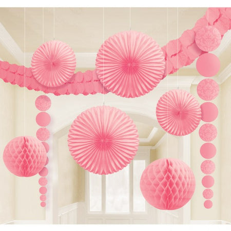Decoration kit for party in pink