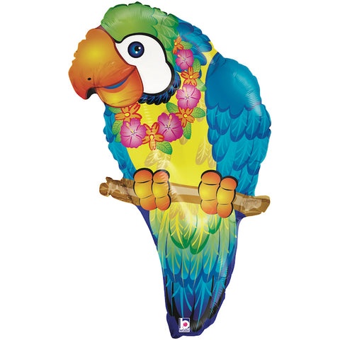 "30"" Tropical Parrot Foil Balloon"