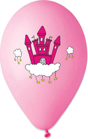 13'' Printed Princess's Castle Latex Balloon (25 pcs)